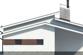 Фасад дома с навесом