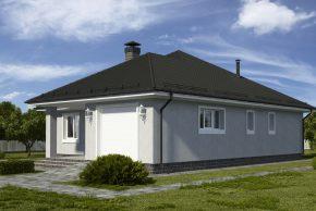 Одноэтажный жилой дом по проекту фото