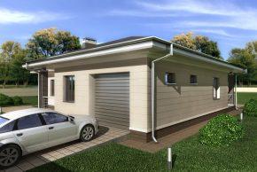Жилой дом с гаражом 1 авто