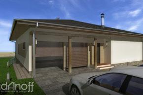 Проект каркасного дома с гаражом фото
