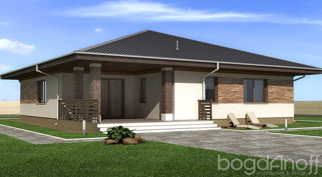 Дом с крыльцом и террасой