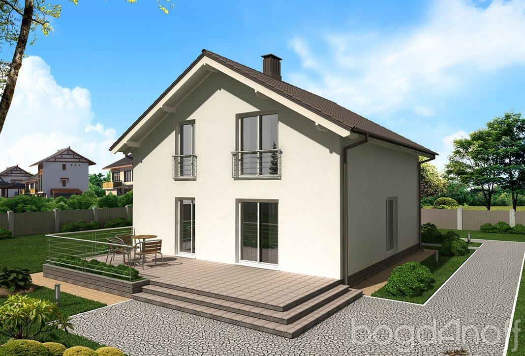 Красивый дом с отделкой