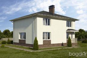 Проект двухэтажного дома с вальмовой кровлей П6-5 1