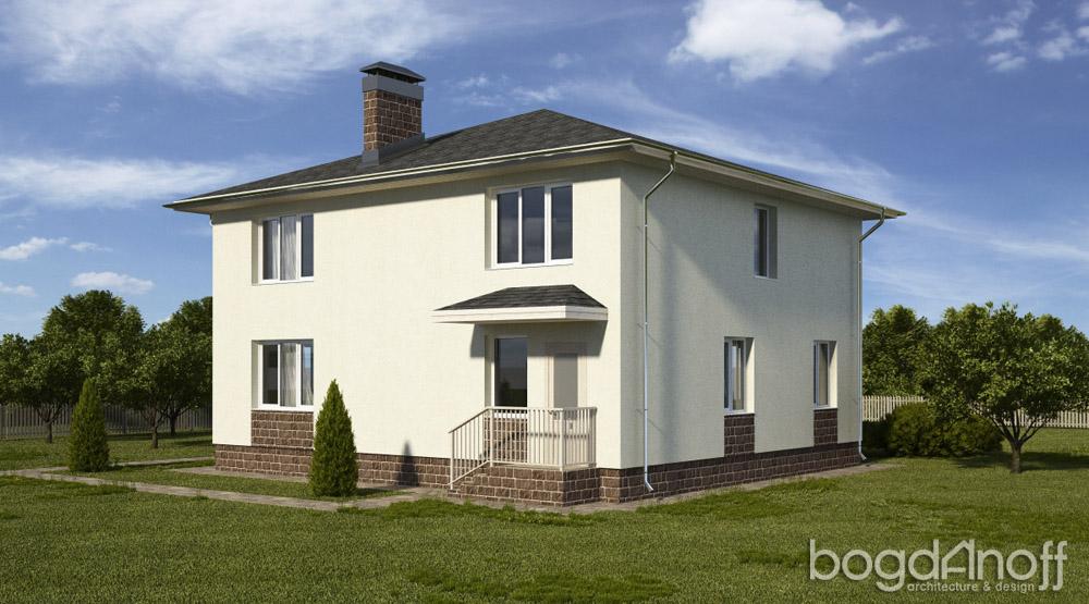 Проект двухэтажного дома с вальмовой кровлей П6-5 2
