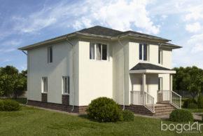 Проект двухэтажного дома с вальмовой кровлей П6-5 3