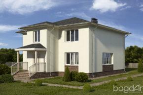 Проект двухэтажного дома с вальмовой кровлей П6-5 4
