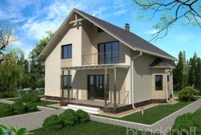 Типовой проект мансардного дома фото