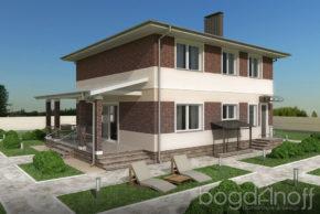 Типовой проект двухэтажного дома фото