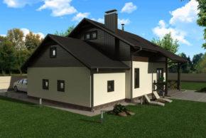 Проект каркасного жилого дома 151 кв фото