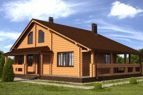 дом из профбруса