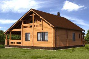 жилой дом из бруса