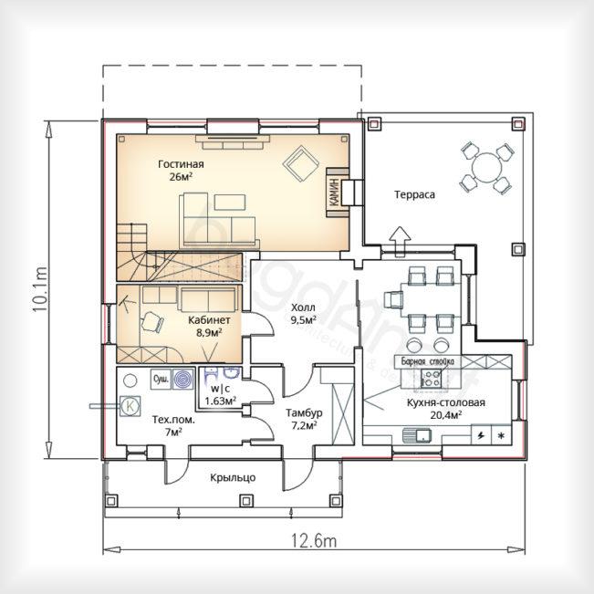 План дома в стиле Шале фото
