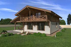 Проект дома в стиле Шале фото
