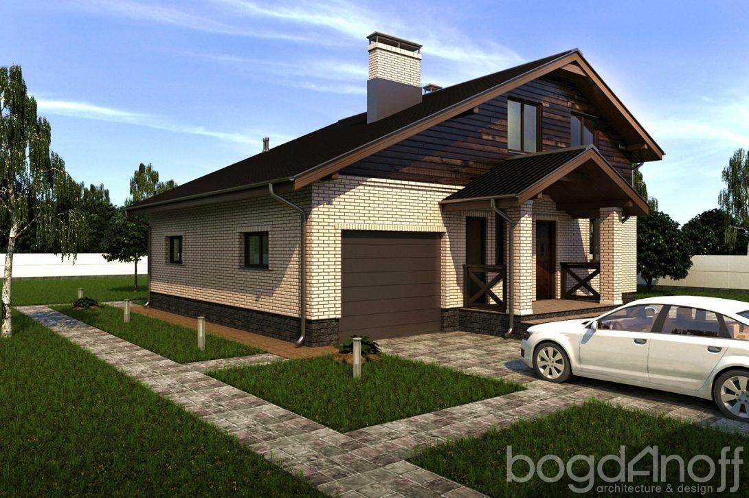 Дом с гаражом облицовка вагонка