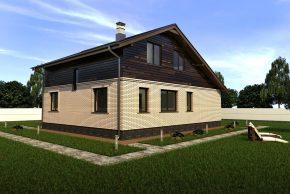 Дом с мансардой белый кирпич