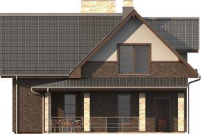Вид фасада дома