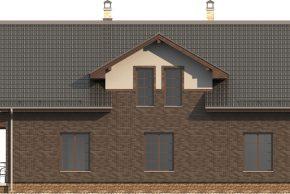 Фасад дома мансарды