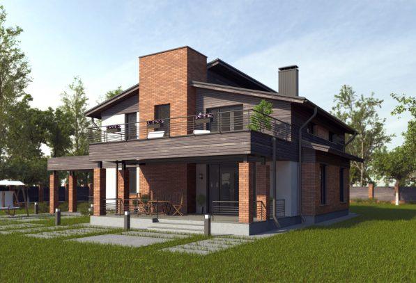 Современный дом с облицовкой
