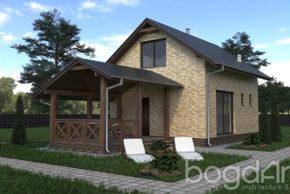 Дачный дом с террасой