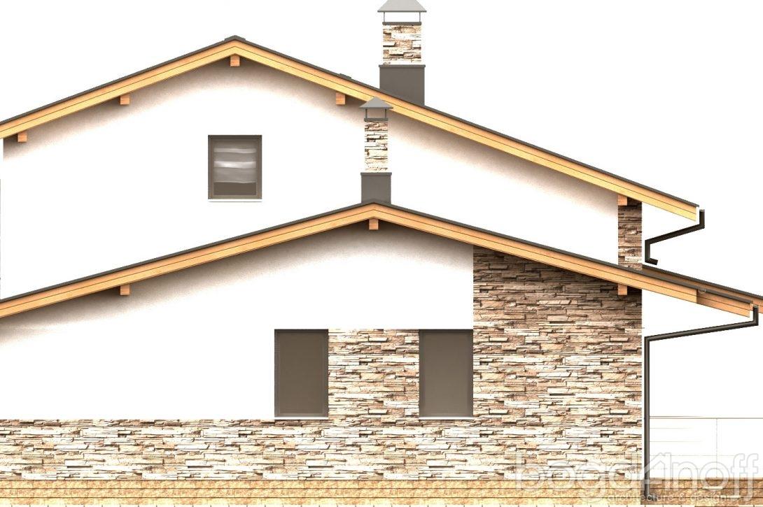 Фасад дома с балконом