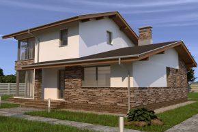 Двухэтажный с угловым окном