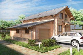 Мансардный дом из бревна