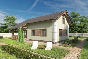 Жилой домик с террасой