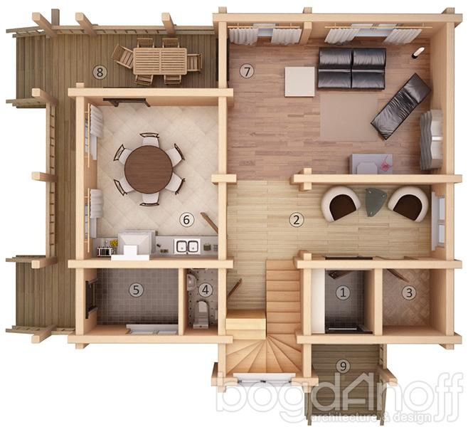 Планировка жилого дома