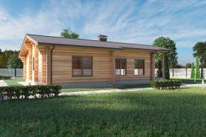 Дом деревянный большие окна