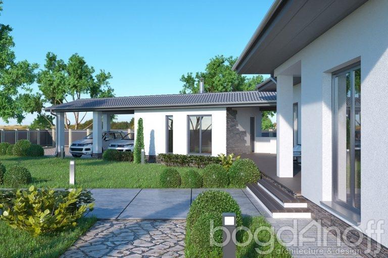 Проект одноэтажного дома с гаражом фото