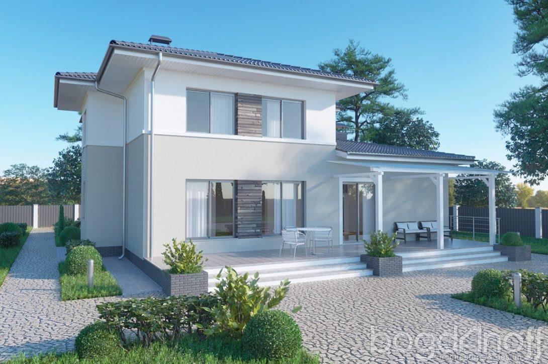Элегантный проект дома на 2 этажа фото