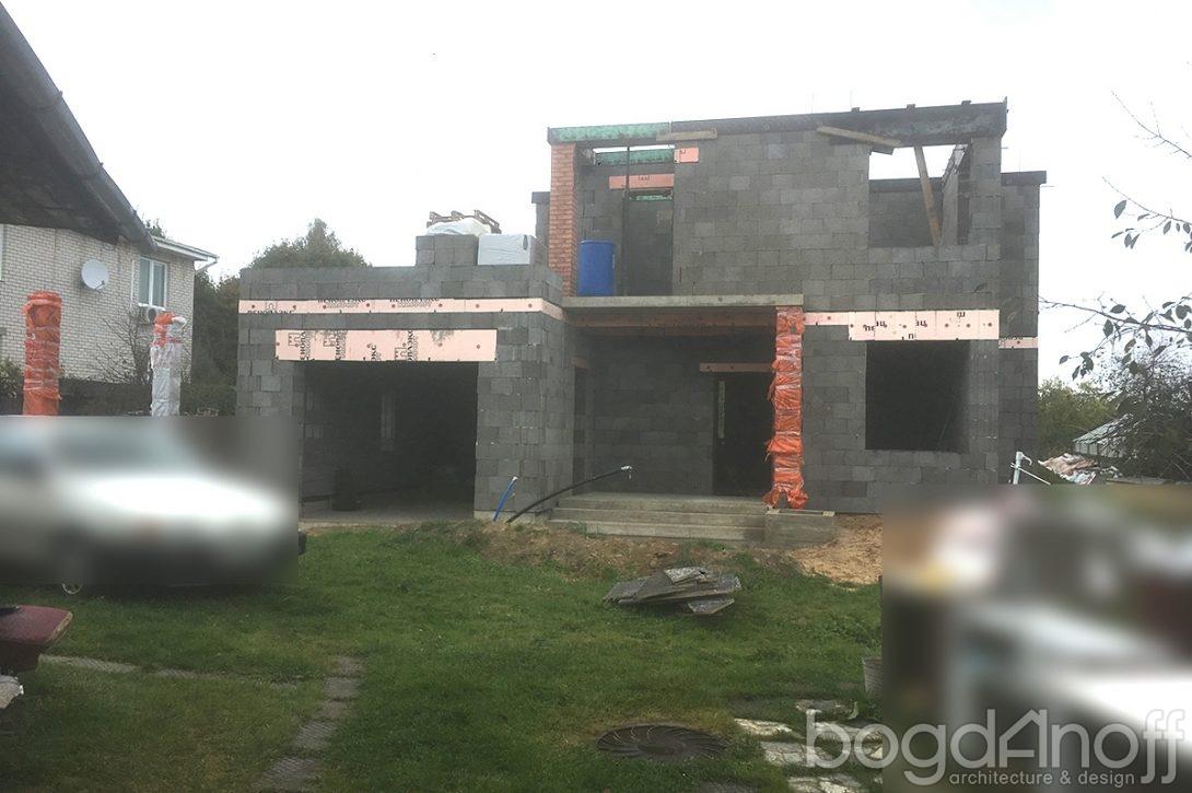 Строительство двухэтажного дома с гаражом