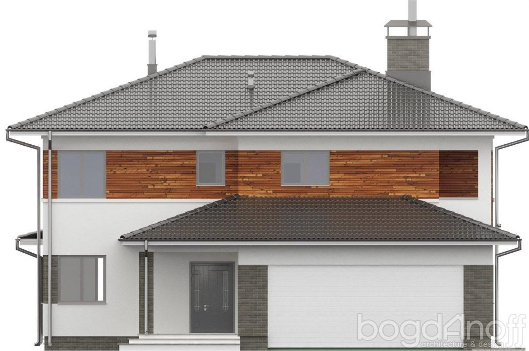 Большой двухэтажный макет проекта дома РБ