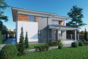 Большой двухэтажный проект дома РБ