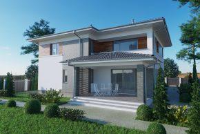 Большой двухэтажный проект дома РБ изображение