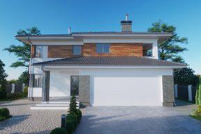 Большой двухэтажный проект дома РБ фото