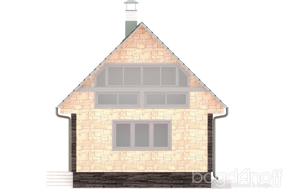 Макет одноэтажного небольшого дома