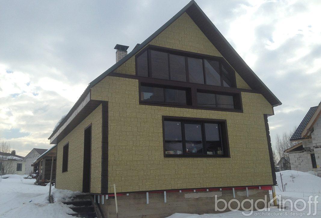 Строительство дома с мансардой по проекту