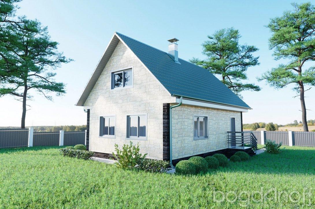 Проект маленького одноэтажного дачного домика