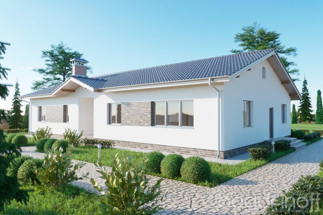 Дом с крыльцом в фасаде
