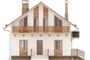 Макет мансардного жилого дома с двумя балконами