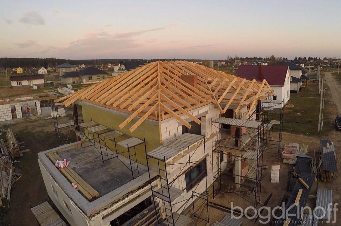 Строительство кровли двухэтажного дома по проекту