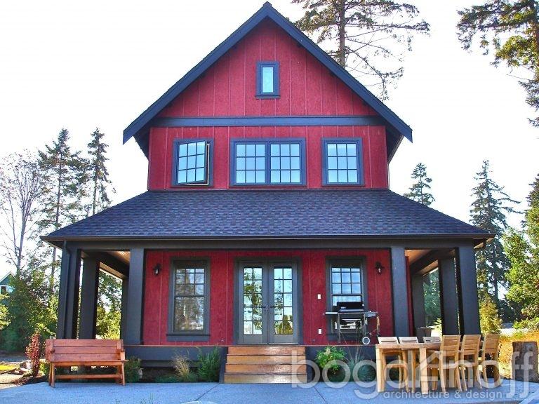 Цветовое решение для фасада и крыши здания