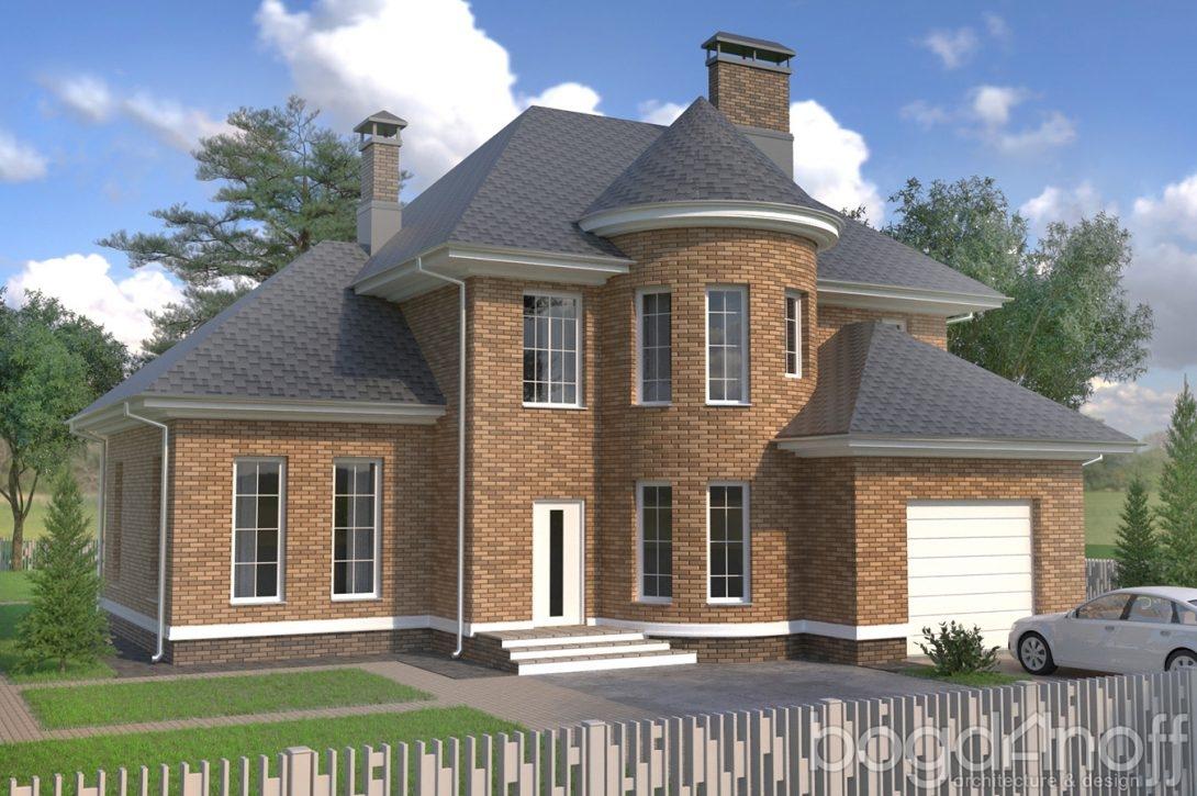 Проект дома в английском стиле Кирпич