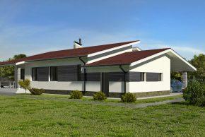 Проект с гаражом и террасой изображение