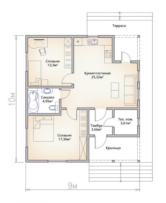 Планировка каркасного дома на неровном участке