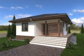 Проект каркасного дома на неровном участке изображение