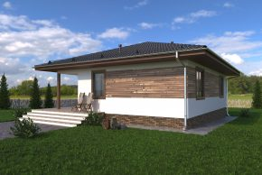 Проект каркасного дома на неровном участке