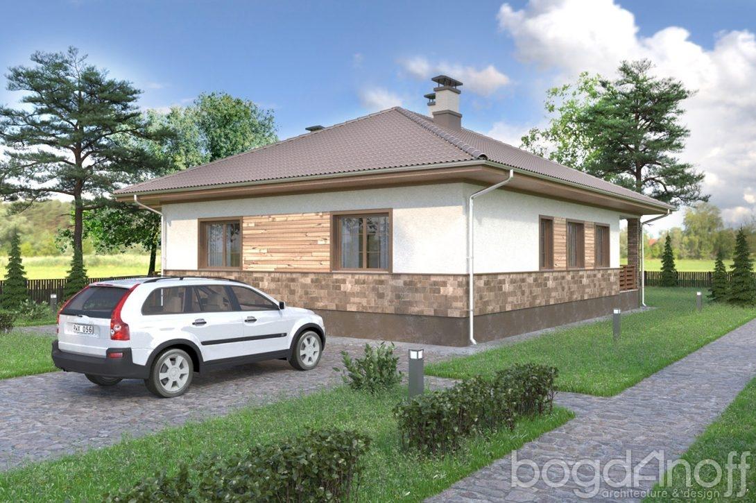 Жилой дом с фасадом планкен