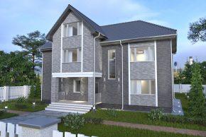 Проект жилого дома в два этажа с мансардой фото